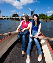 Two girls in boat