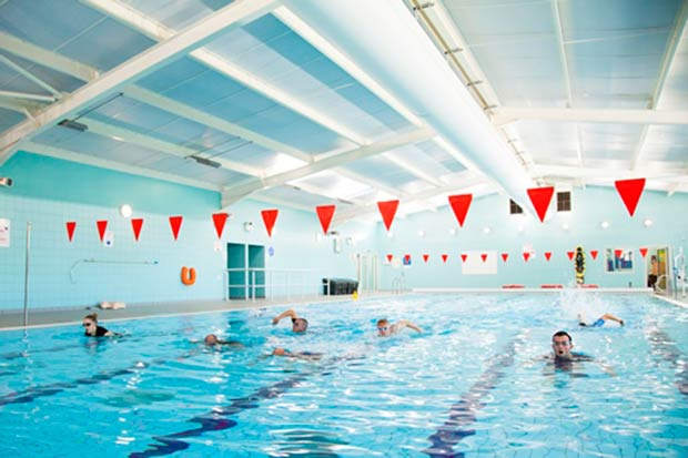 Students swimming (world class facilities)